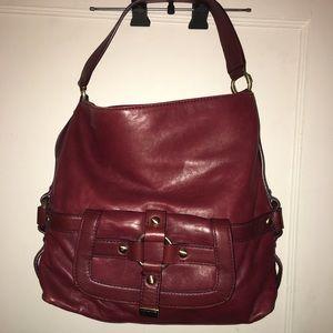 Michael Kors burgundy shoulder bag
